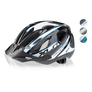 Casco bici - XLC Comp Yellowstone Blanco-Negro-Azul