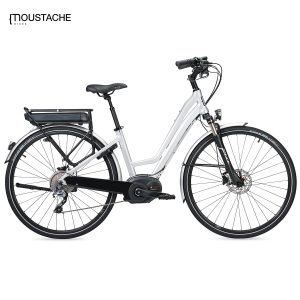 Bicicleta eléctrica Moustache Samedi 28 Silver Open (Plata)