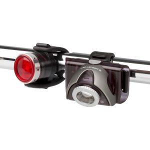 Linterna bicicleta Led Lenser SEO B5R gris+SEO B2R