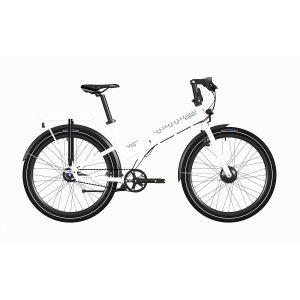 Bicicleta eléctrica Quipplan q26 F11 city blanca