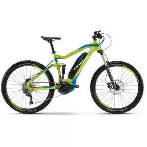 Bicicleta electrica Haibike SDuro AllMtn SL Lima-Cian-Blanco