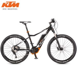 Bicicleta eléctrica KTM - Macina Action 272 Black matt(White+Orange)
