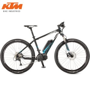 Bicicleta eléctrica KTM - Macina Force 293 Black matt(White+Cyan)