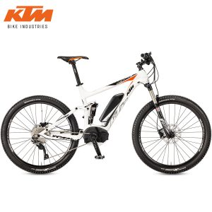 Bicicleta eléctrica KTM - Macina Lycan 275 White (Black+Orange)