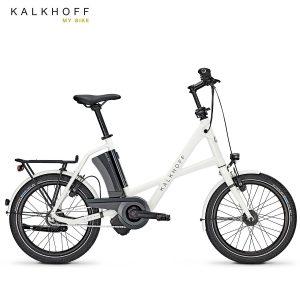 Bicicleta eléctrica Kalkhoff Sahel Compact i8 Blanco nieve-Negro diamante