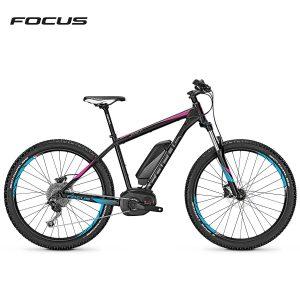 Bicicleta eléctrica Focus Jarifa Plus Donna (Negro magico-Rosa mate)