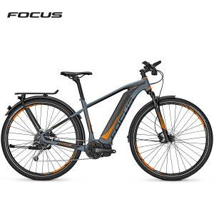 Bicicleta eléctrica Focus Jarifa i Street (Gris halo-Naranja mate)