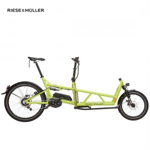 Modelo High Speed de la bicicleta eléctrica Load de Riese & Müller con cambio nuvinci en color lima