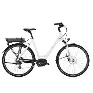 Bicicleta eléctrica Kalkhoff Voyaguer Move i8 modelo Wave y color blanco